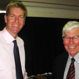 James Tomkins talked about the Oarsome Foursome, with Father Bruce, member and former President of our Club.