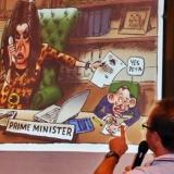 Mark Knight Cartoonist in full flight